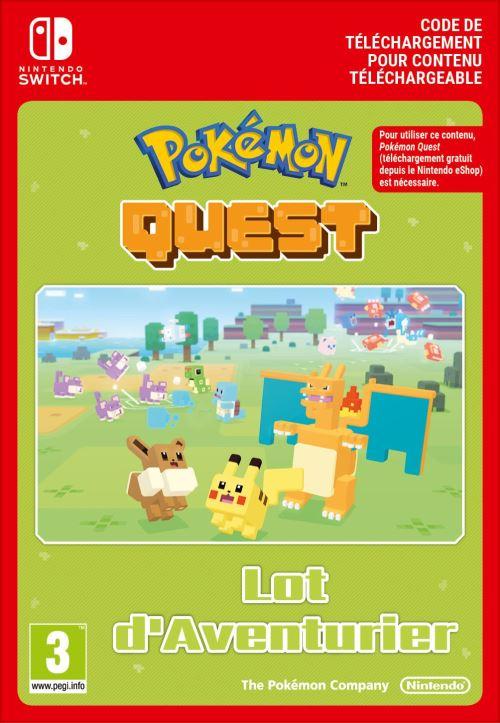 Code de téléchargement Pokémon Quest Expedition Pack Lot d?Aventurier Nintendo Switch