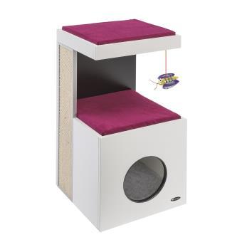 5 sur arbre chat bois ferplast diablo panier ou. Black Bedroom Furniture Sets. Home Design Ideas