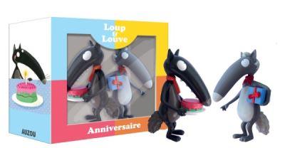 Figurines Loup et Louve : Anniversaire