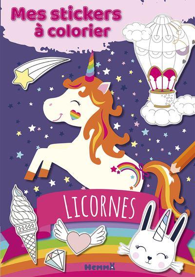 Coloriage Licorne Cultura.Mes Stickers A Colorier Licornes
