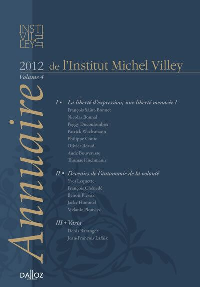 Annuaire de l'Institut MichelVilley. Volume 4 -2012