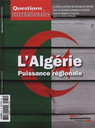 L'Algérie, puissance régionale
