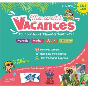Mon Carnet De Vacances Du Cm1 Au Cm2 9 10 Ans