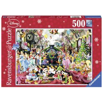 noel 2018 ravensburger Puzzle 500 pièces Le train de Noël Disney Edition Noël  noel 2018 ravensburger