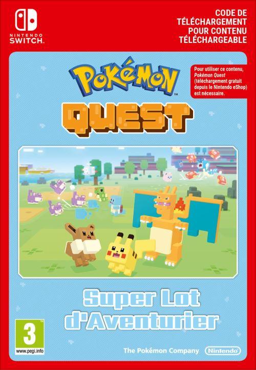 Code de téléchargement Pokémon Quest Great Expedition Pack Lot d?Aventurier Nintendo Switch