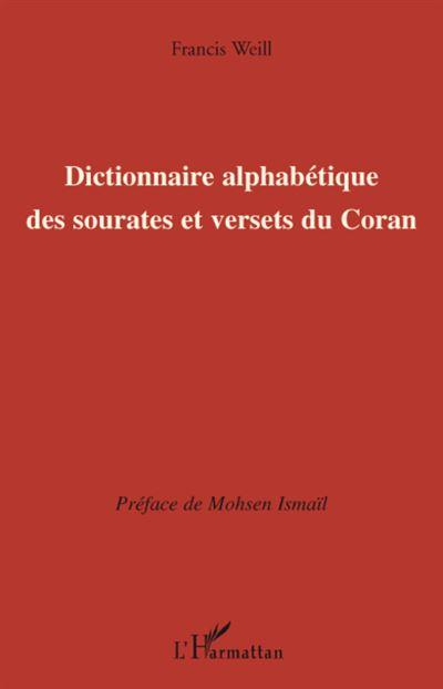 Dictionnaire alphabétique des sourates et versets du Coran