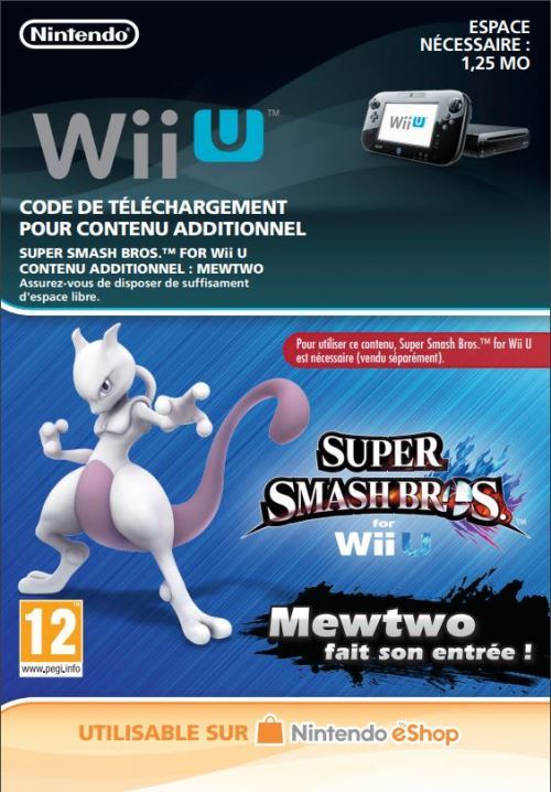 Code de téléchargement Super Smash Bros. Mewtwo fait son entrée ! Nintendo Wii U