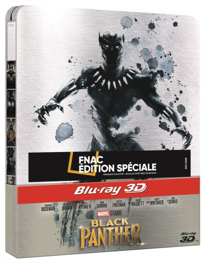 Black Panther  Black-Panther-Edition-Fnac-Steelbook-Blu-ray-3D-2D
