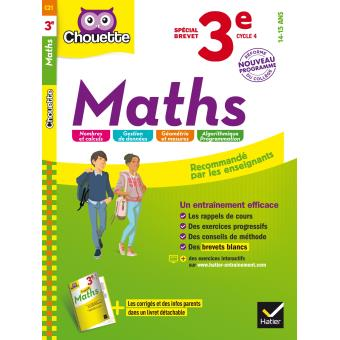 Maths 3eme Special Brevet Workbook Cahier D Entrainement Et De Revision Broche Gerard Bonnefond Daniel Daviaud Bernard Revranche Collectif Achat Livre Fnac
