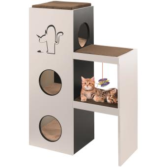 arbre chat bois ferplast napoleon panier ou mobilier pour chat achat prix fnac. Black Bedroom Furniture Sets. Home Design Ideas
