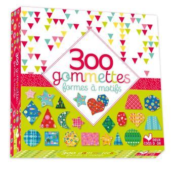 Maxi format - 300 gommettes - Multicolores à motifs