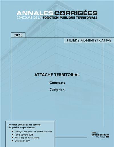 Attaché territorial 2020 concours catégorie A filière administrative