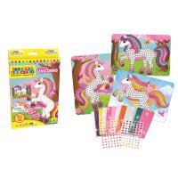 Kit Créatif Sticky Mosaics Sparkling Unicorns Orb Factory
