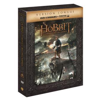 Bilbo le HobbitLe Hobbit : La bataille des cinq armées (Version Longue) – 5 DVD