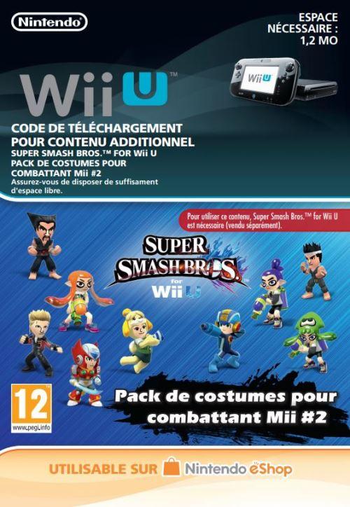 Code de téléchargement Super Smash Bros. Pack de costumes pour combattant Mii #2 Nintendo Wii U