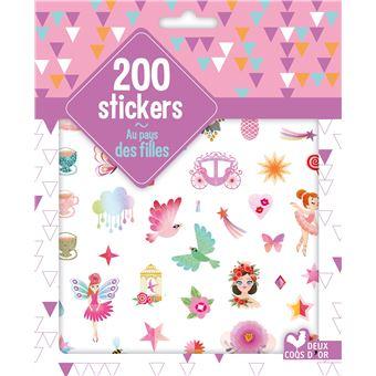 200 stickers Au pays des filles - pochette d'autocollants