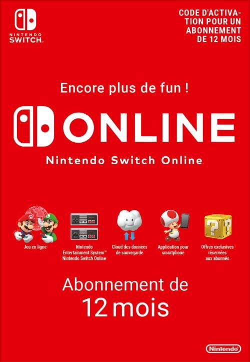 Code de téléchargement Nintendo Switch Online : 12 mois d'abonnement