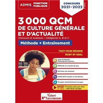 2000 QCM de culture générale et actualité, Catégories B et C