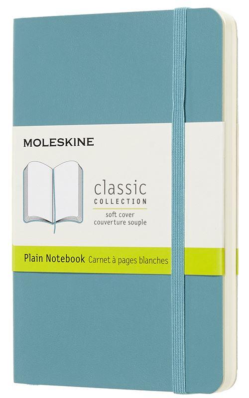 Carnet à pages blanches Moleskine Poche souple Bleu lagon