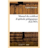 Manuel du certificat d'aptitude pedagogique 7e edition