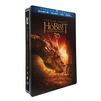 Bilbo le HobbitLe Hobbit : la désolation de Smaug version longue Steelbook Blu-ray 2D + 3D