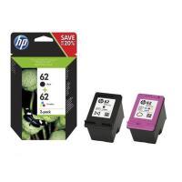 Pack de 2 cartouches HP N9J71AE 62 Noir/3 Couleurs