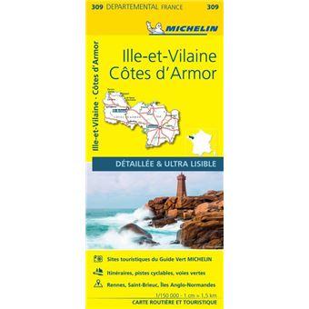 Carte de Bretagne nord michelin