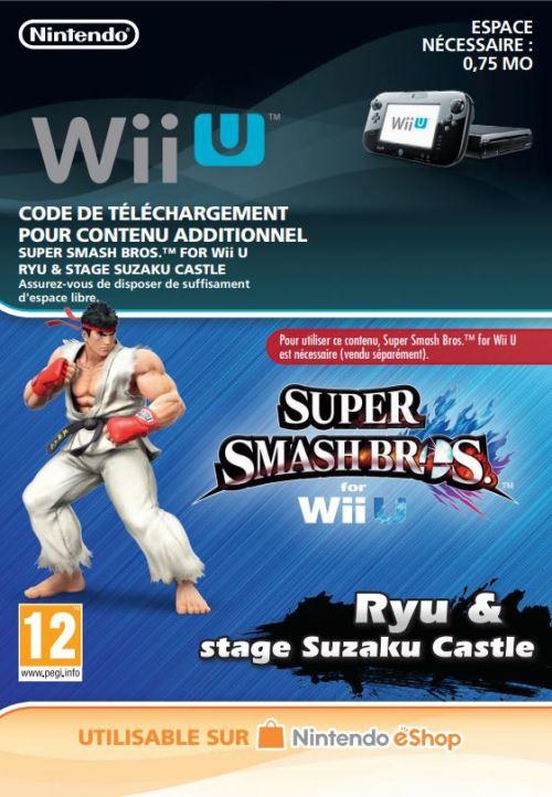 Code de téléchargement Super Smash Bros. Rye et Stage Suzaku Castle Nintendo Wii U