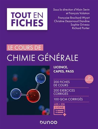 Chimie générale - Tout le cours en fiches - 2e éd