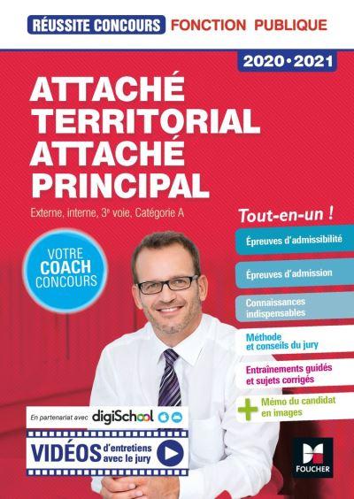 Réussite Concours - Attaché territorial, Attaché principal Cat. A - 2020-2021 - Préparation complète - 9782216158751 - 16,99 €