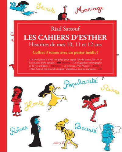 Coffret Les Cahiers d'Esther - 3 tomes - Histoires de mes 10, 11, et 12 ans