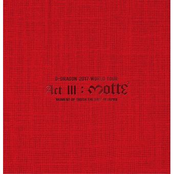 G-Dragon 2017 World Tour Act III : Motte Blu-ray