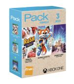 Pack Fnac 3 jeux Famille Xbox One Rush Une aventure Disney Pixar + Super Lucky's Tale + Disneyland Adventures