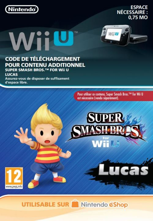 Code de téléchargement Super Smash Bros. Lucas Nintendo Wii U