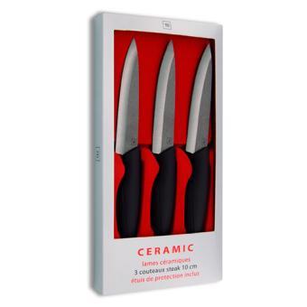 coffret 3 couteaux steak c ramique tarrerias bonjean lame noire 10 cm achat prix fnac. Black Bedroom Furniture Sets. Home Design Ideas