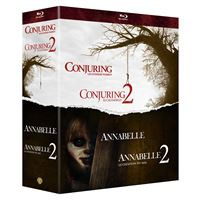 Coffret Annabelle 1 et 2 Conjuring 1 et 2 Blu-ray