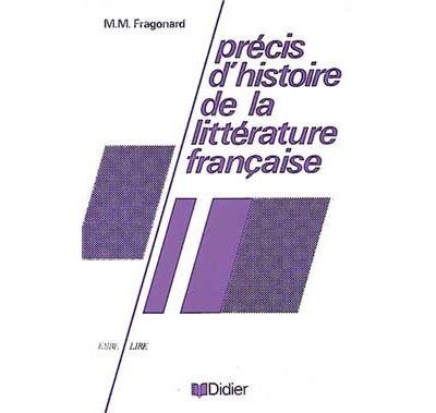 Précis d'histoire de la littérature française - Livre