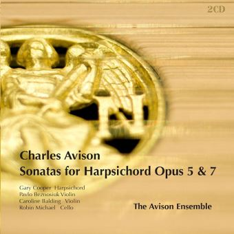 AVISON: SONATAS FOR HARPSICHORD OPU