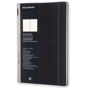 Carnet de bureau - Format A4 - Pages blanches - Couverture rigide noire.