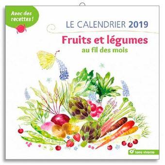 Calendrier 2019 fruits et legumes au fil des mois