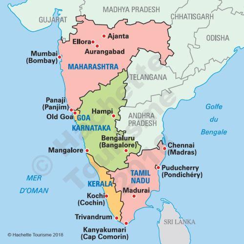 Carte Asie Sud Est Routard.Guide Du Routard Inde Du Sud 2018