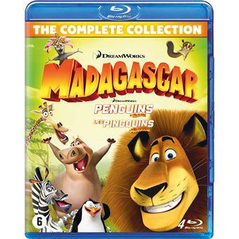 Madagascar 1-3+Penguins box-BIL-BLURAY
