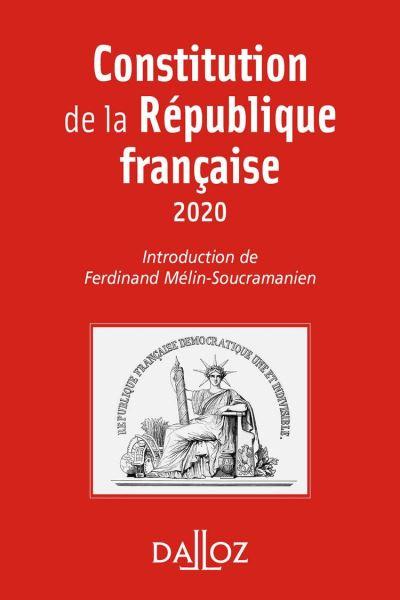 Constitution de la République française. 2020 - 17e éd. - 9782247194452 - 2,99 €