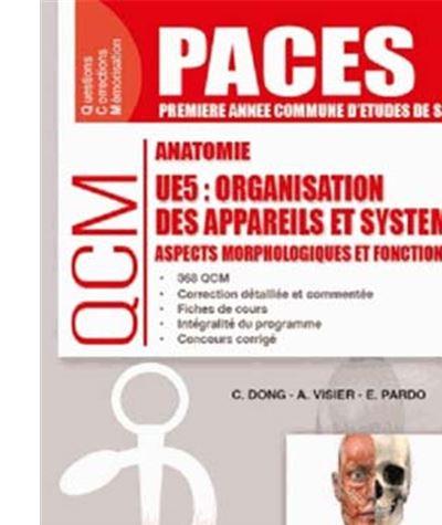 UE5 Anatomie, Organisation des appareils et systèmes