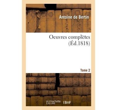 Oeuvres complètes de Bertin