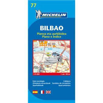 Mapa Michelin Plano e Índice 77 - Bilbao