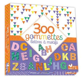 Maxi format - 300 gommettes - Lettres à motifs