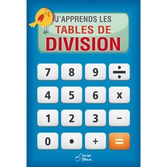J Apprends Les Tables De Divisions Cartonne Collectif Achat