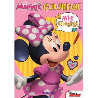 MickeyDisney Minnie Coloriage avec stickers