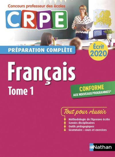 Français - Epreuve écrite 2020 - Tome 1 (CRPE) - (EFL3) - 2019 - Format - EPub 3 - 9782098127555 - 15,99 €